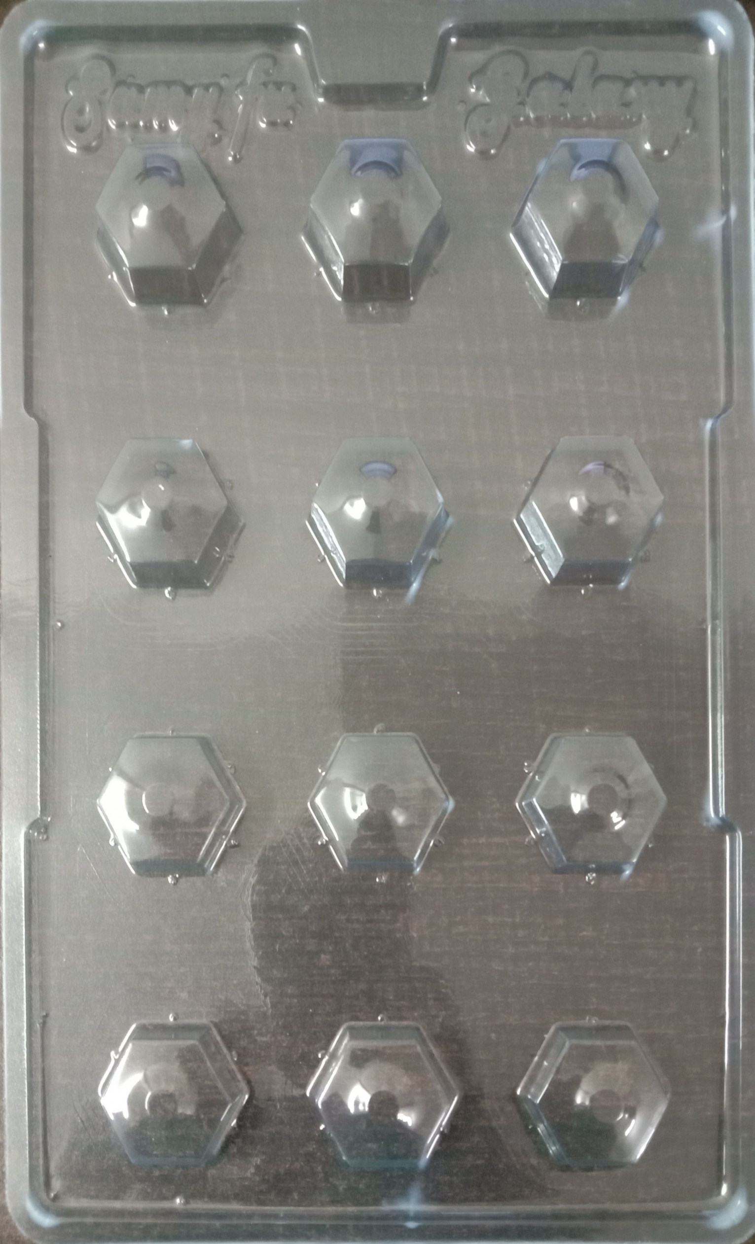Marvino Plastic Chocolate Mould (Set Of 9)