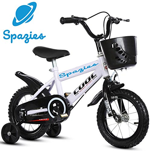 "SPAZIES, 12"" Inch Kids Bi-cycle, Freestyle Kids Sports Bicycle For Boys & Girls - Age Group 2-5 Years, White-Black, Semi-Assembled"