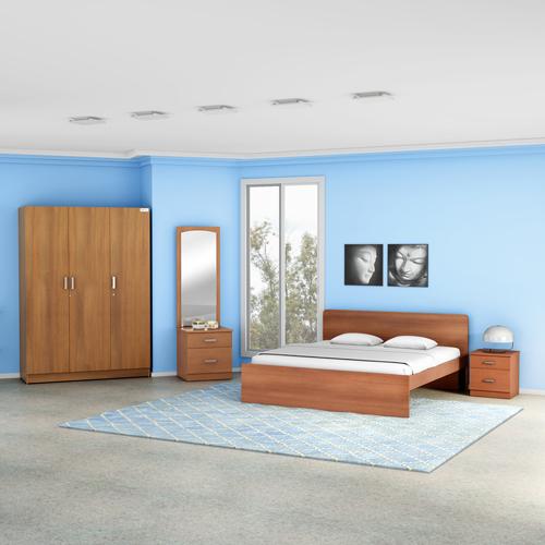 Godrej Adria King / Queen / Single Size Bed Imperial Oak Finish (King)