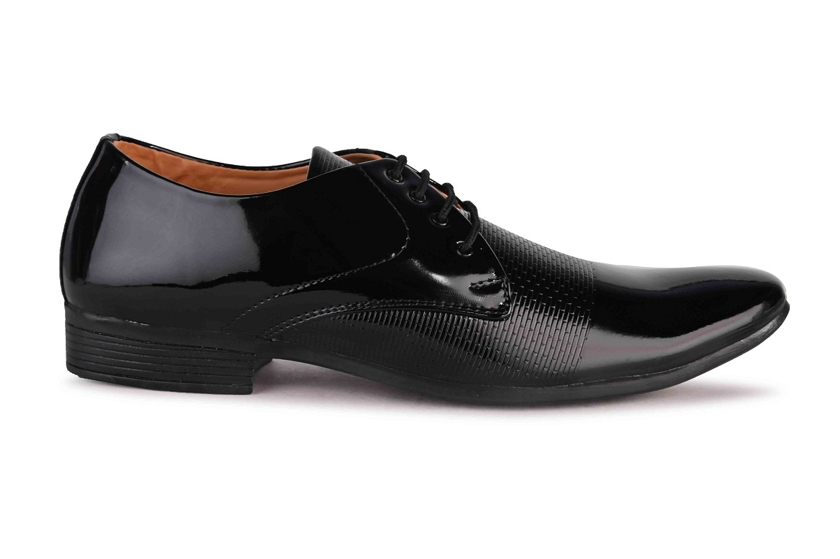 Almighty Derby Patent Leather Party Wear For Men HAPTBL (Black, 6-10, 8 PAIRS)