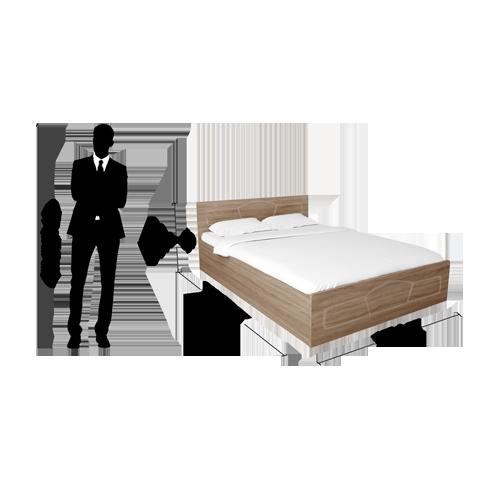 Godrej Eudora King / Queen Size Bed With Storage Sonoma Oak Finish (Queen)
