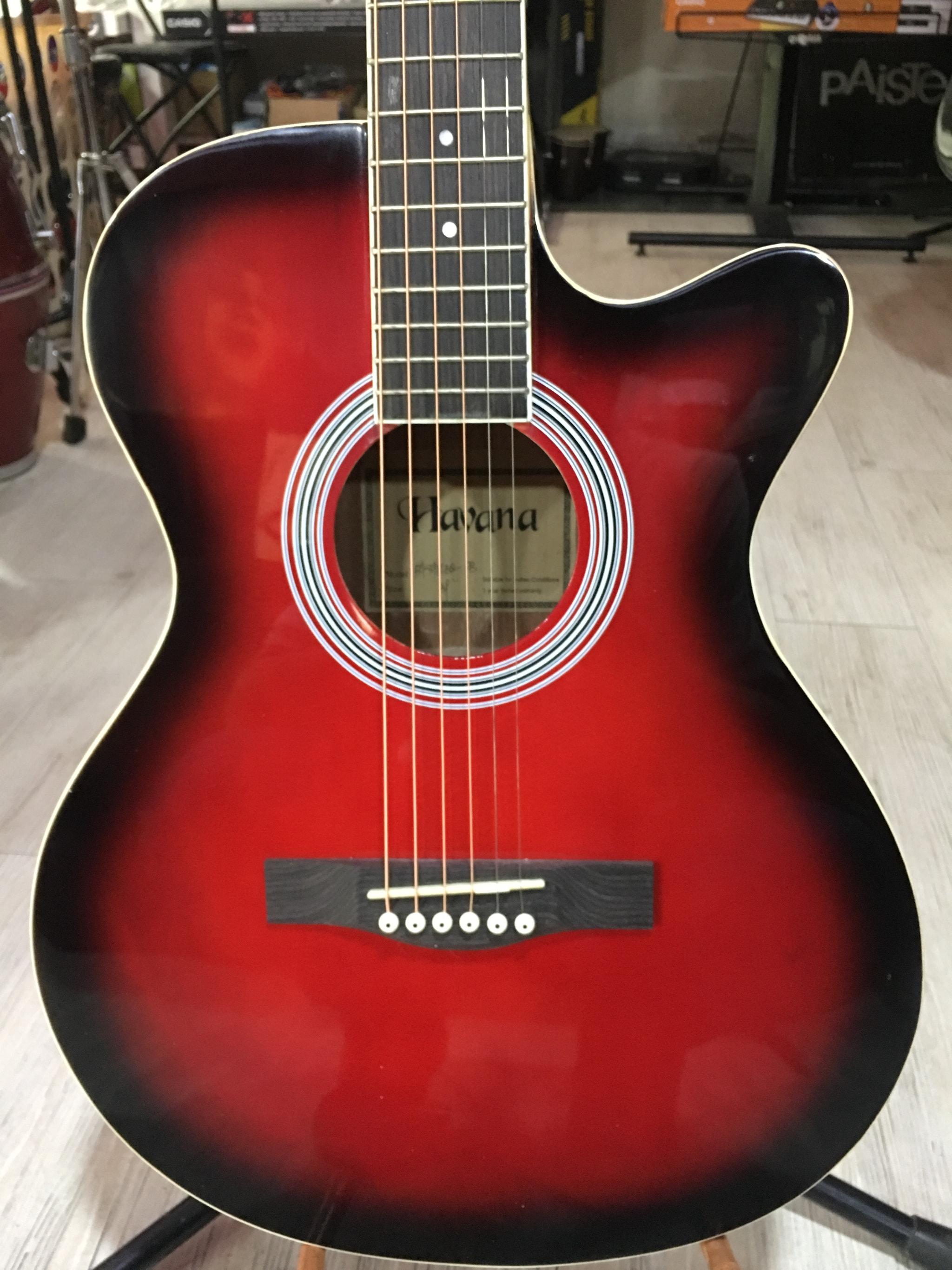 Havana FA-391CEQ Semi Acoustic Guitar (RB)