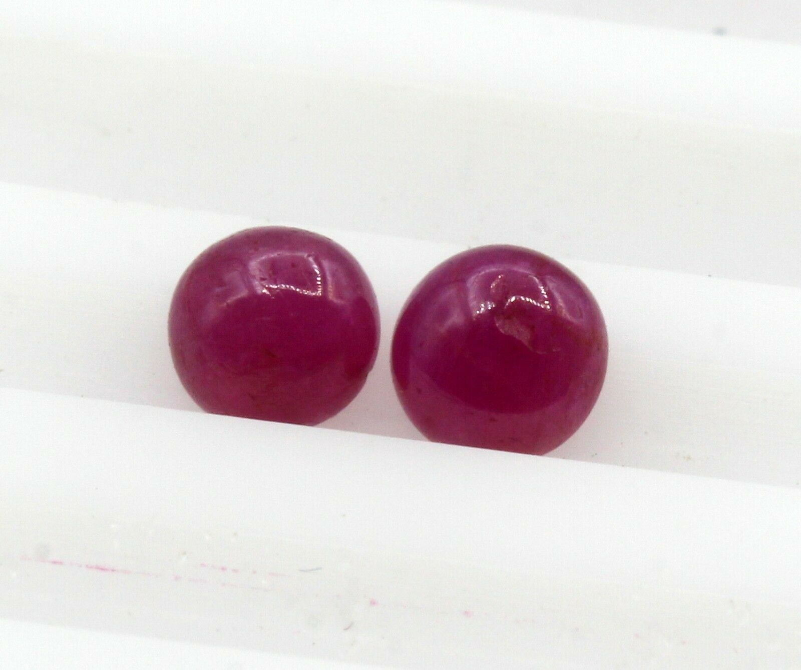 0.86 Ct Ruby Natural Gemstone Burma Lot Of 2 Piece Cabochon Shape Certified