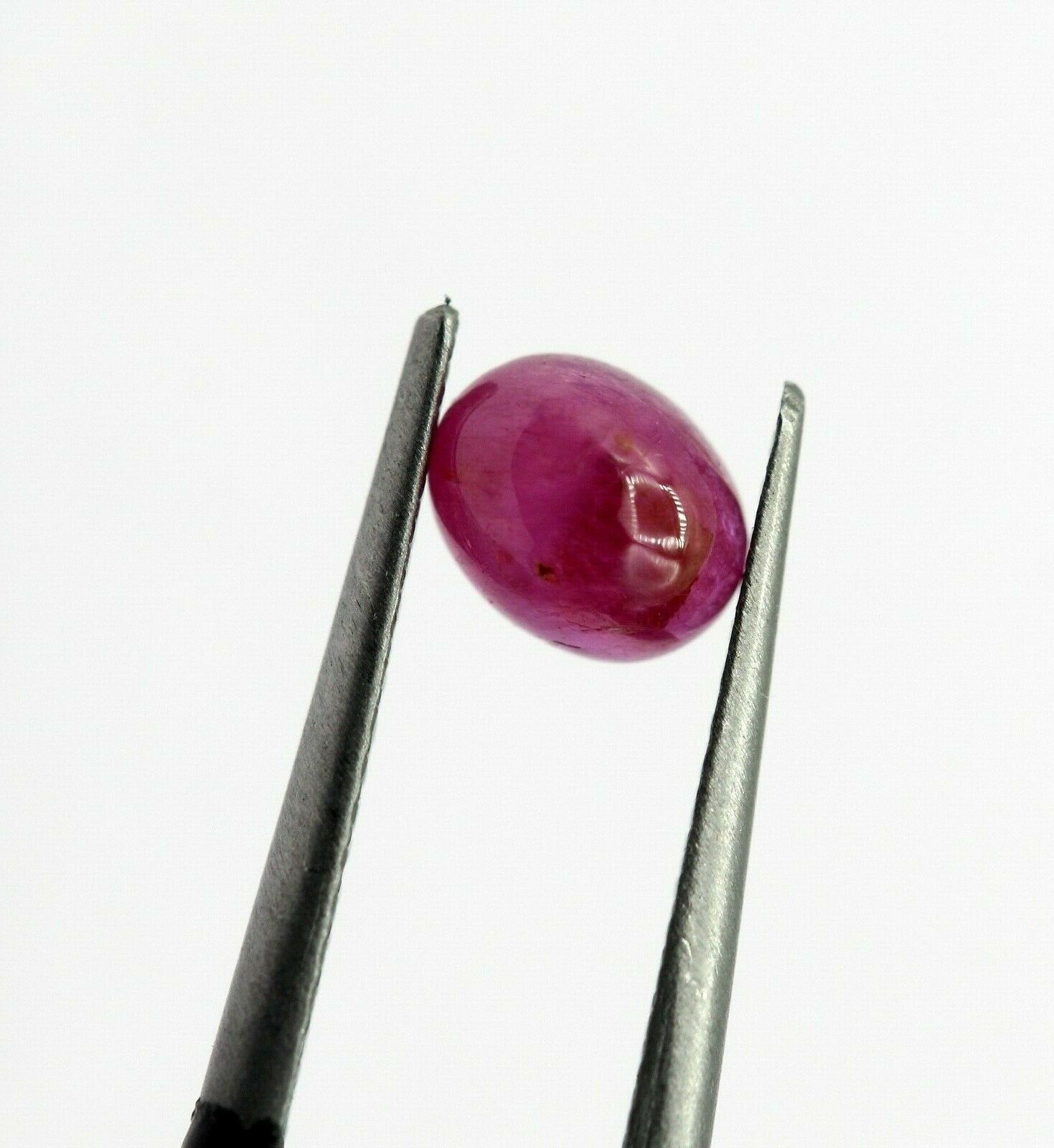 0.85 Ct Ruby Natural Gemstone Oval Cabochon Shape Pinkish Red Color Africa Certified