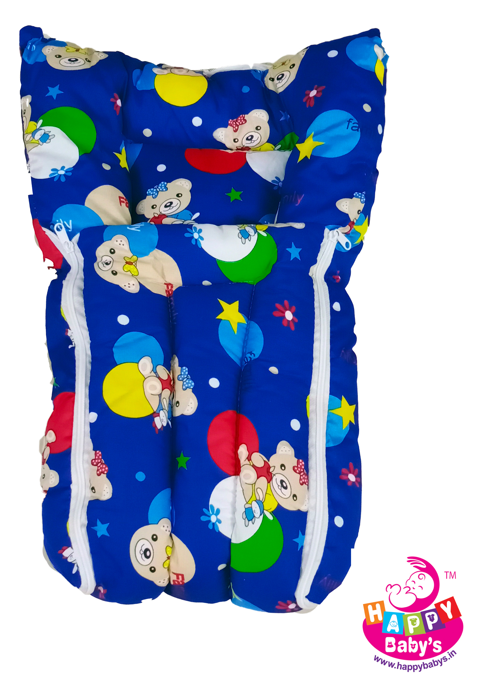 Happy Baby's Comfort Zipper Carry Bed For Carrying New Born Baby's | Pack Of 6 Beds | Cozy And Comfortable To Carry | Per Bed :Rs105