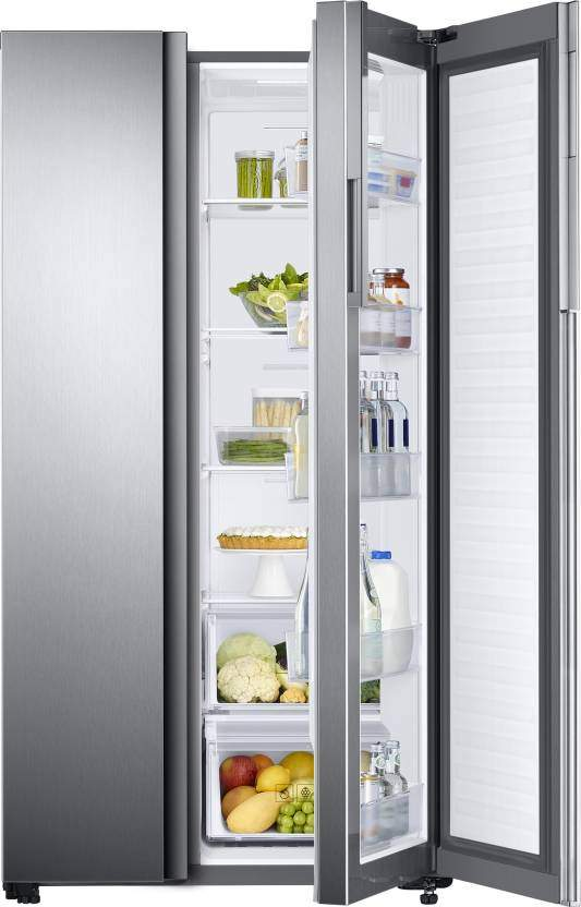 Samsung 674 L Frost Free Side By Side Refrigerator(Real Stainless, RH62K60A7SL/TL)