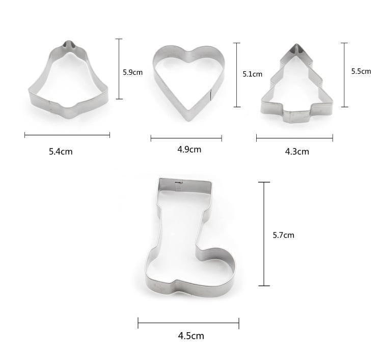 Christmas Scenario Cookie Cutters 10PCS Set 3D Stainless Steel