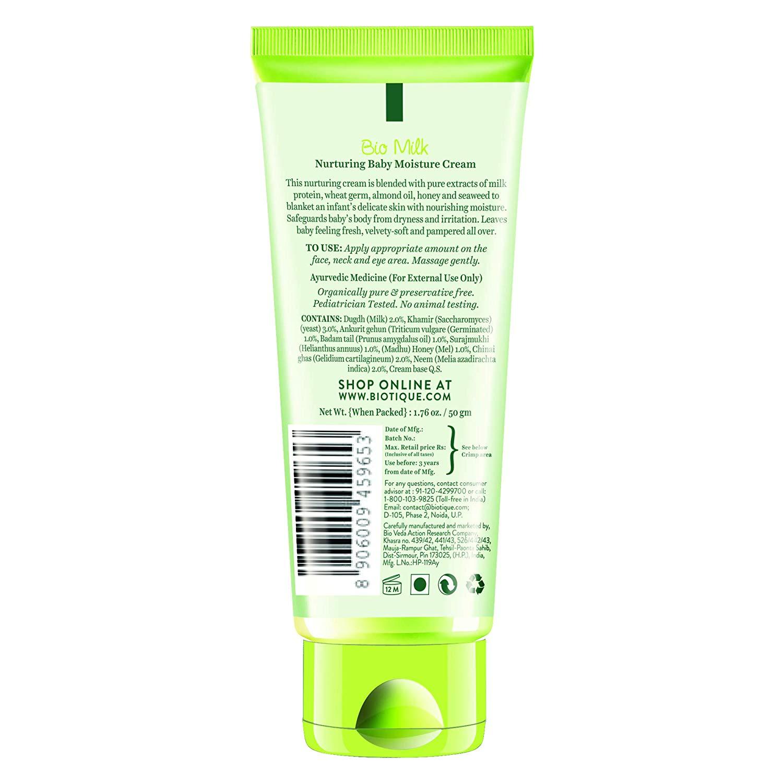 Biotique Milk Nurturing Baby Moisture Cream (50 g)