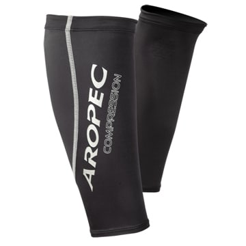 Aropec Compression Triathlon Swimming Cycling Running Calf Sleeves (Black,XL)