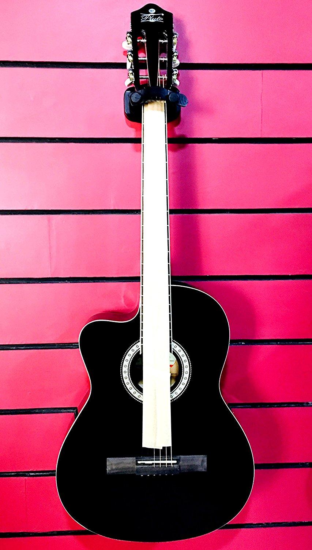 Pluto HW39CL-201 Left Handed Acoustic Guitar (Black)