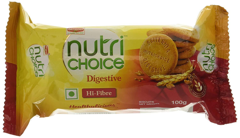 Britannia Nutrichoice Hi-Fibre Digestive Biscuit 100 Gm