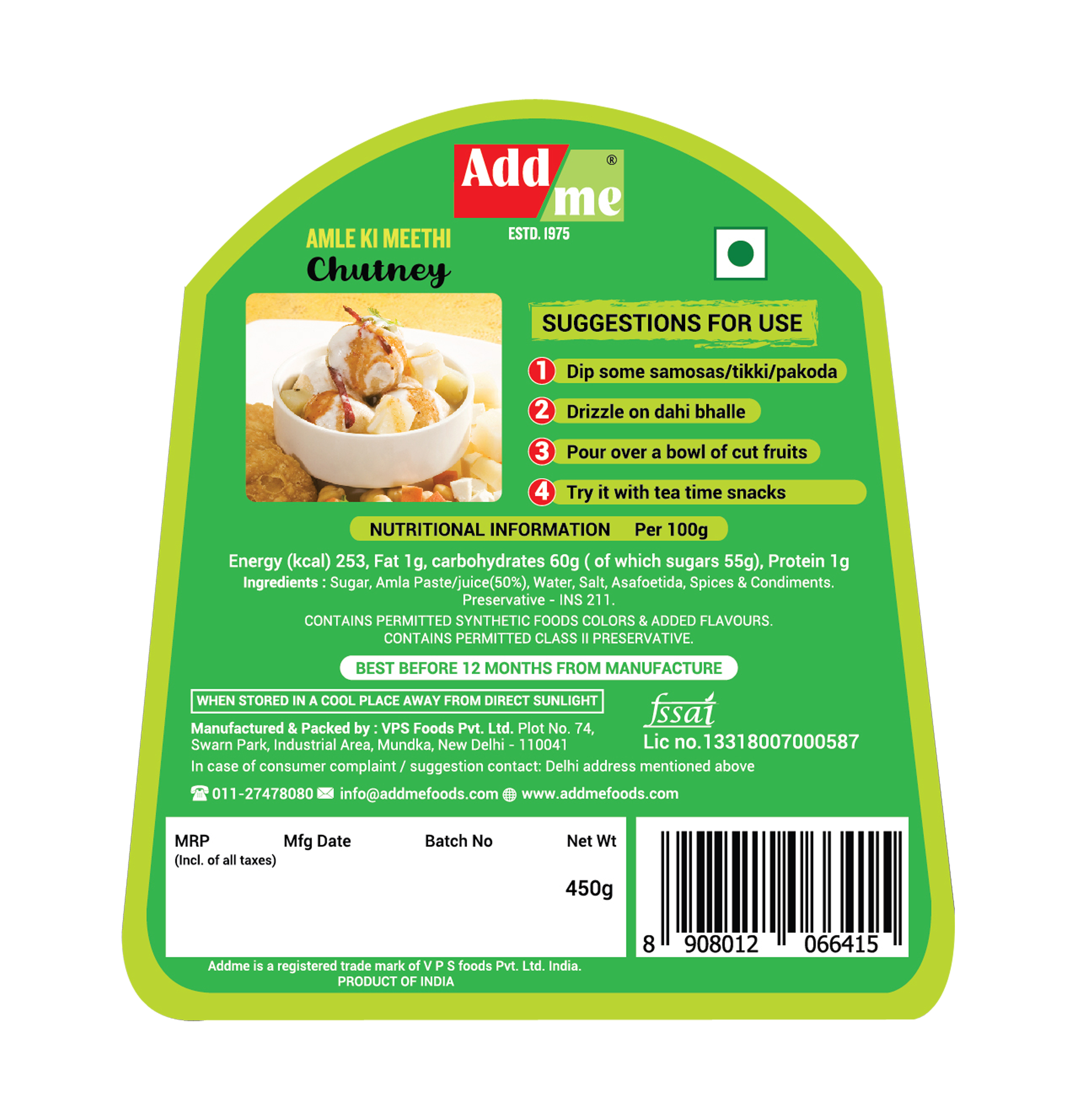 Add Me Homemade Indian Chutney Sauce Combo… (Sonth Chatni 450g + Pudina Dip 390G + Mango Methi Achar Pickle 390G + Mix Pickle 390G + Sweet Amla 450G)