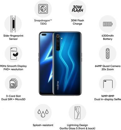 Realme 6 Pro (Lightning Blue, 128 GB)  (6 GB RAM)