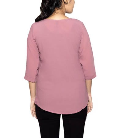 Women Semi-Formal Tops (M,Onion Pink)