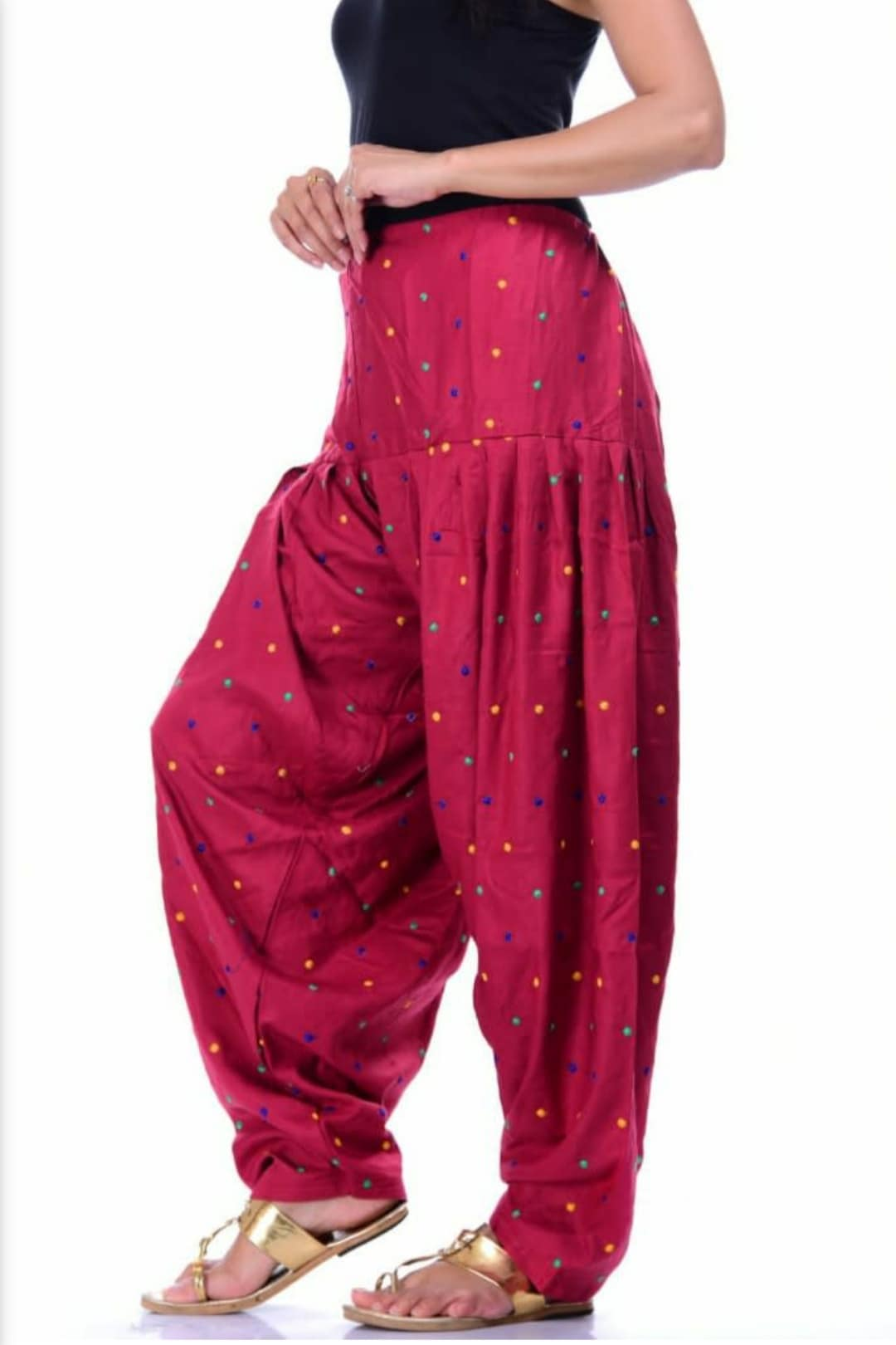 Samridhi Collections Rayon Patiala For Girls & Women's (Pink)