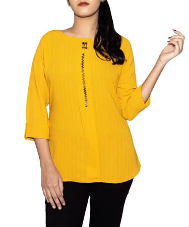 Women Semi-Formal Tops (XL,Yellow)