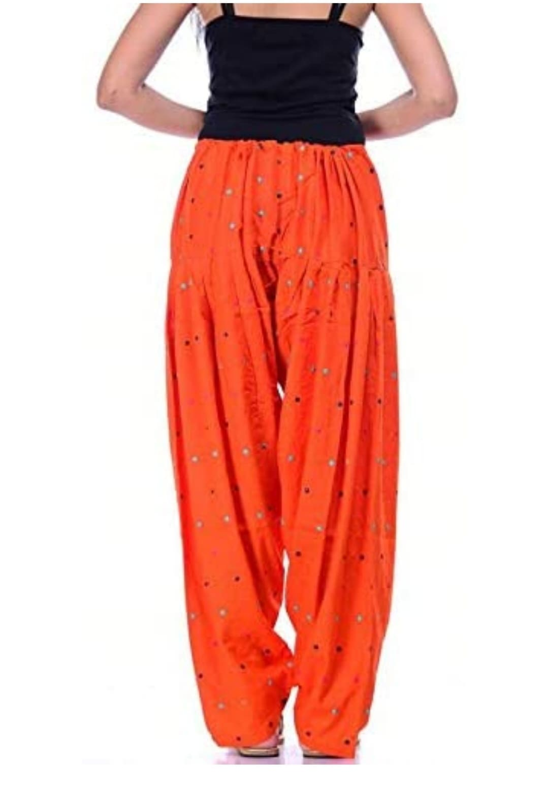 Samridhi Collections Rayon Patiala For Girls & Women's (Orange)