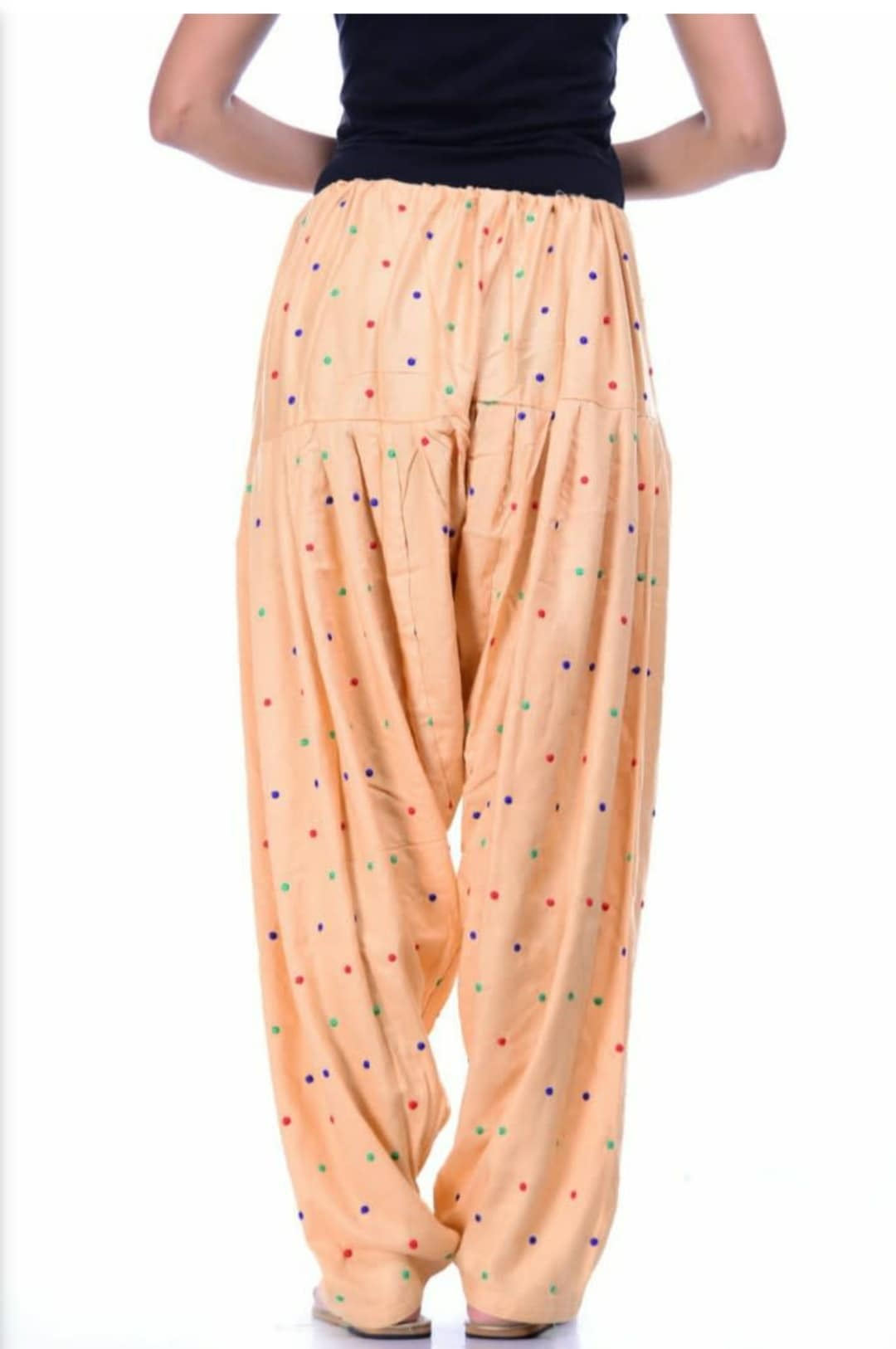 Samridhi Collections Rayon Patiala For Girls & Women's (Skin)