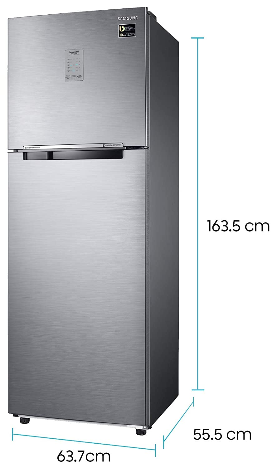 Samsung Roll Over Image To Zoom In Samsung 275 L 2 Star Inverter Frost-Free Double Door Refrigerator
