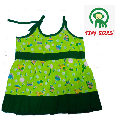 Tiny Souls Girls Top Knot Frock Only Tops For Your Cute LilOnes | Pack Of 10 Pieces | Per Piece:Rs.32 (3-6 M)
