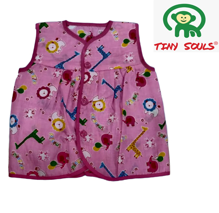 Tiny Souls Unisex Front Buttons Only Tops For Your Cute LilOnes | Pack Of 10 Pieces | Per Piece:Rs.22 (0-3 M)