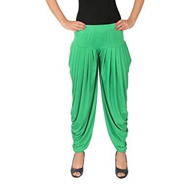 4 Way Lycra Patiyala Leggings For Women With Robe (XL,Light Green)