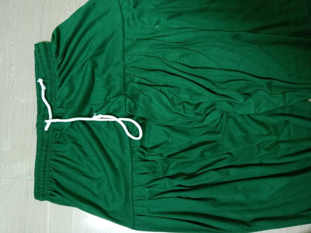 4 Way Lycra Patiyala Leggings For Women With Robe (XXL,Green)