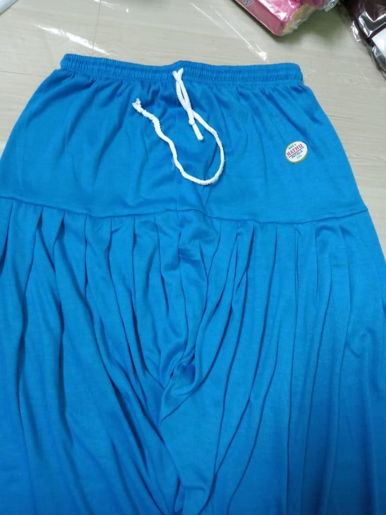 4 Way Lycra Patiyala Leggings For Women With Robe (XL,SKyblue)