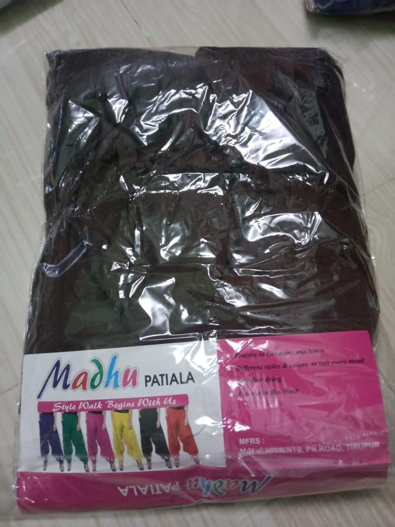 4 Way Lycra Patiyala Leggings For Women With Robe (XL,Brown)