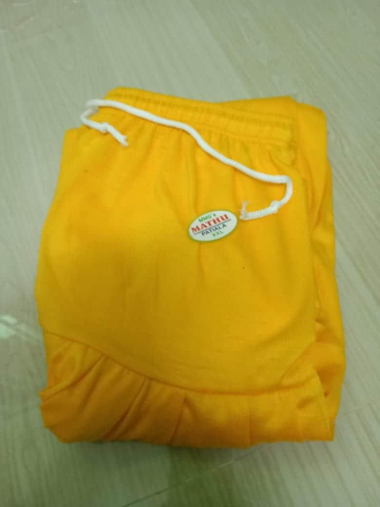 4 Way Lycra Patiyala Leggings For Women With Robe (XL,Yello)