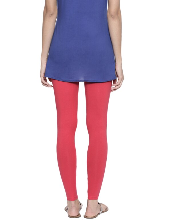 Organic Cotton Ankle Leggings (XL, Coral)