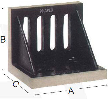 Apex 753 Slotted Angle Plates Machined Webbed End (115x90x75 Mm)