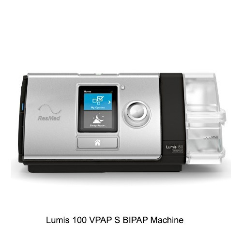Lumis 100 VPAP S Resmed With Full Face Mask Bipap Machine
