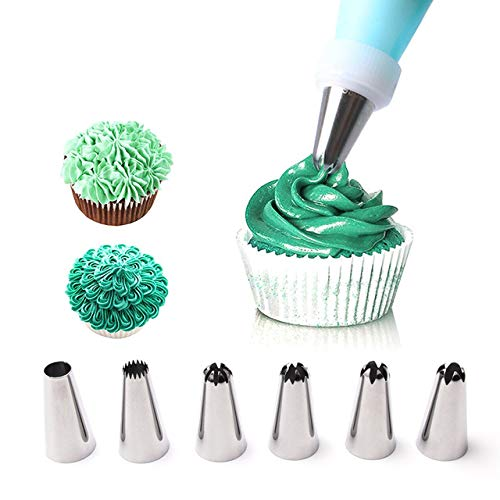 Cake Decorating Nozzle Icing Bag KIT Stainless Steel Reusable