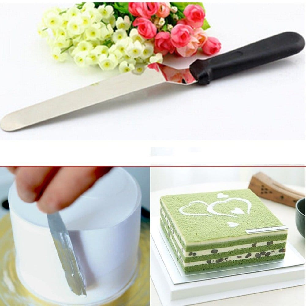 "10"" Angular Stainless Steel Cake Palette Knife Icing Spatula"