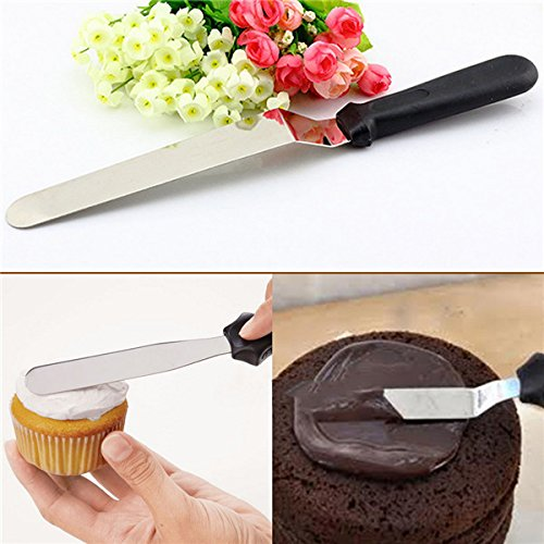 """6"""" Angular Stainless Steel Cake Palette Knife Icing Spatula"""