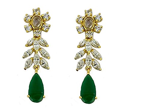 E0117 - American Diamond Earrings (White)