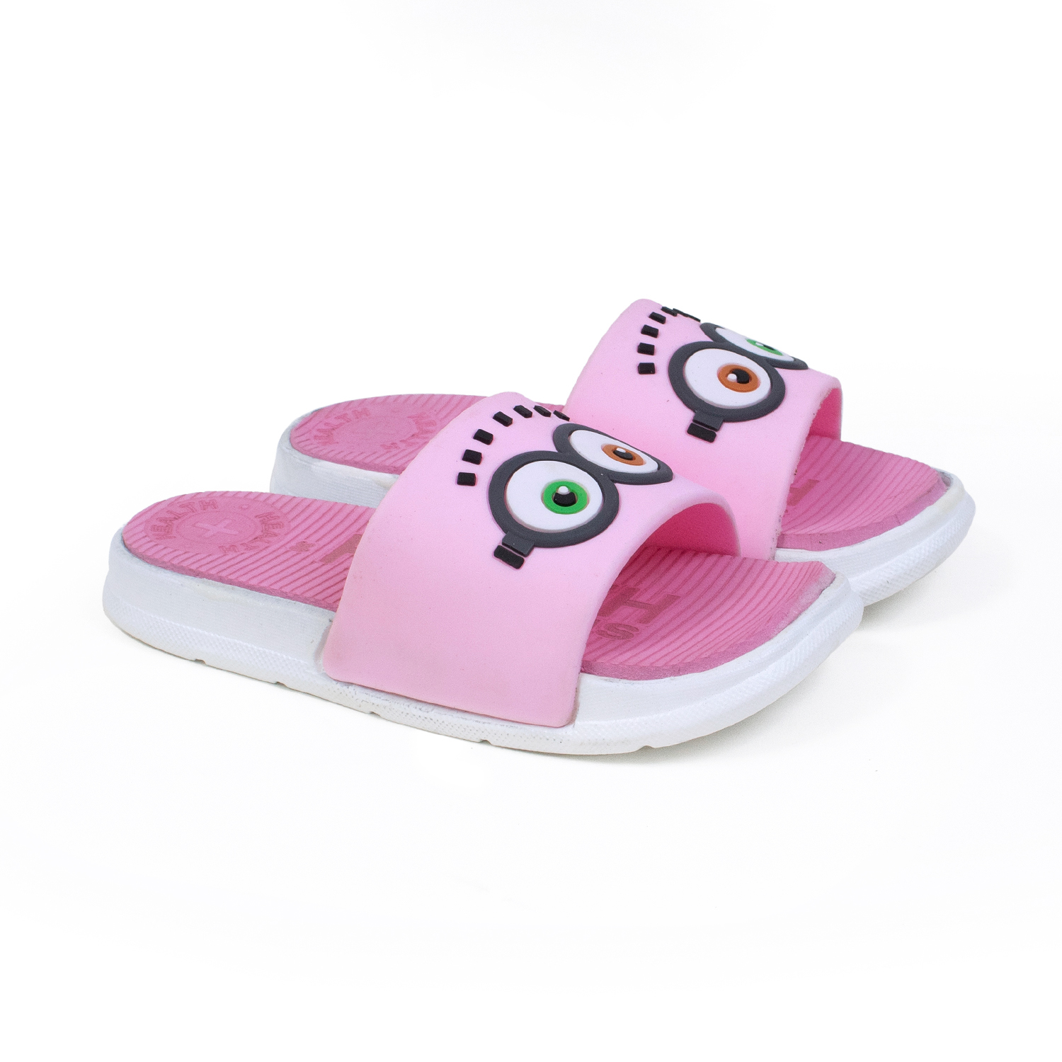 Foot Trends Latest Stylish Slipper For Kids GogglePnk30-35 (Pink, 30-35, 6 PAIR)