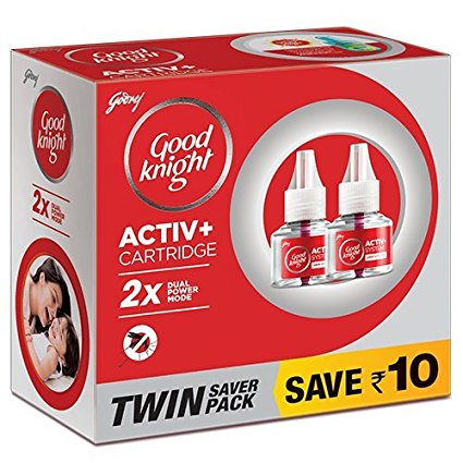 Good Knight Advanced Activ+ Cartridge (Pack Of 2) 45 Ml