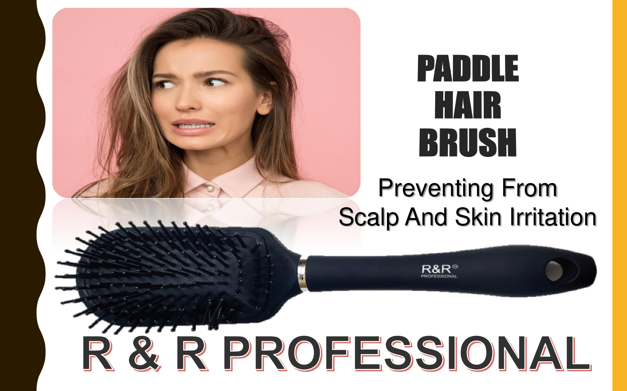 R & R PROFESSIONAL ROOTS HAIR BRUSH