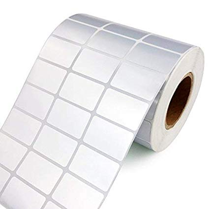 33X25mm BARCODE STICKERS (5000STICKERS) | Permanent Adhesive Paper Label
