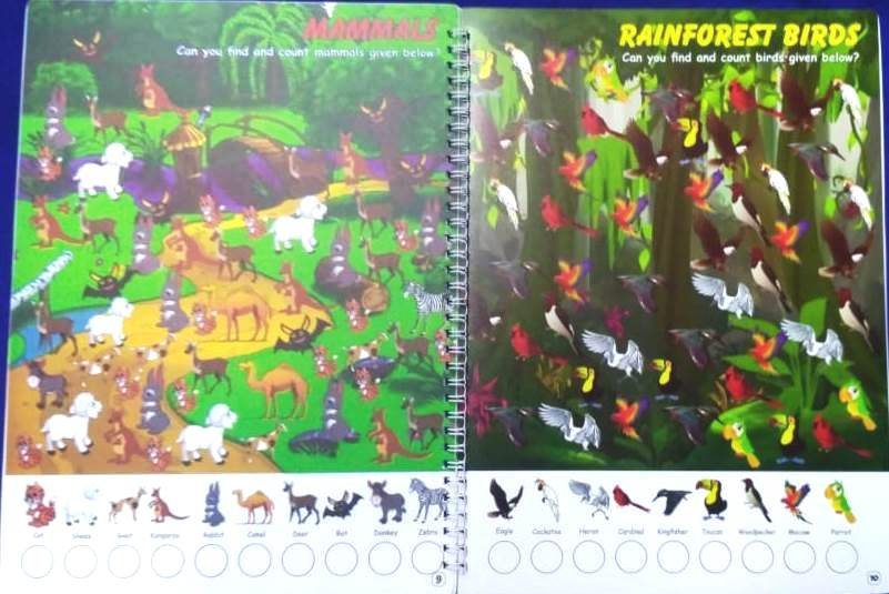 My Reusable Animal See And Search Book