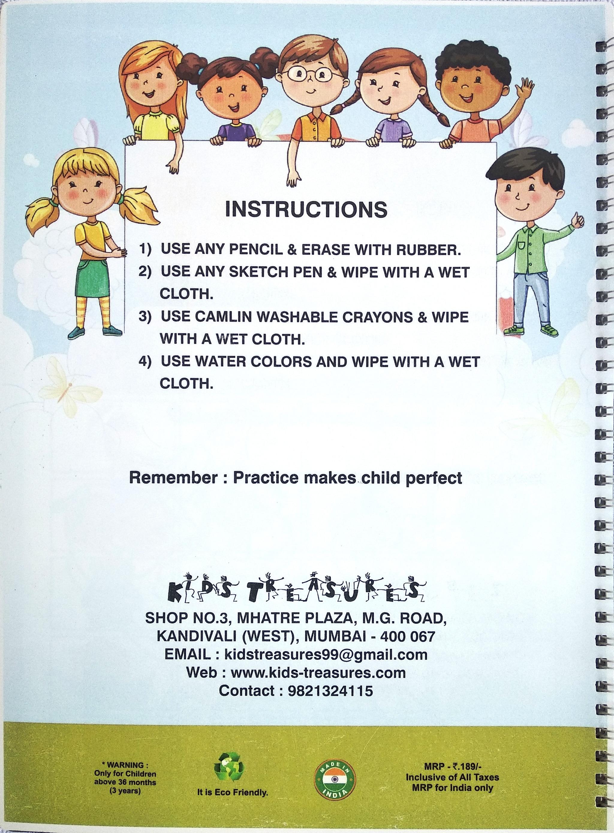 My Reusable Colour & Learn Alphabet Book