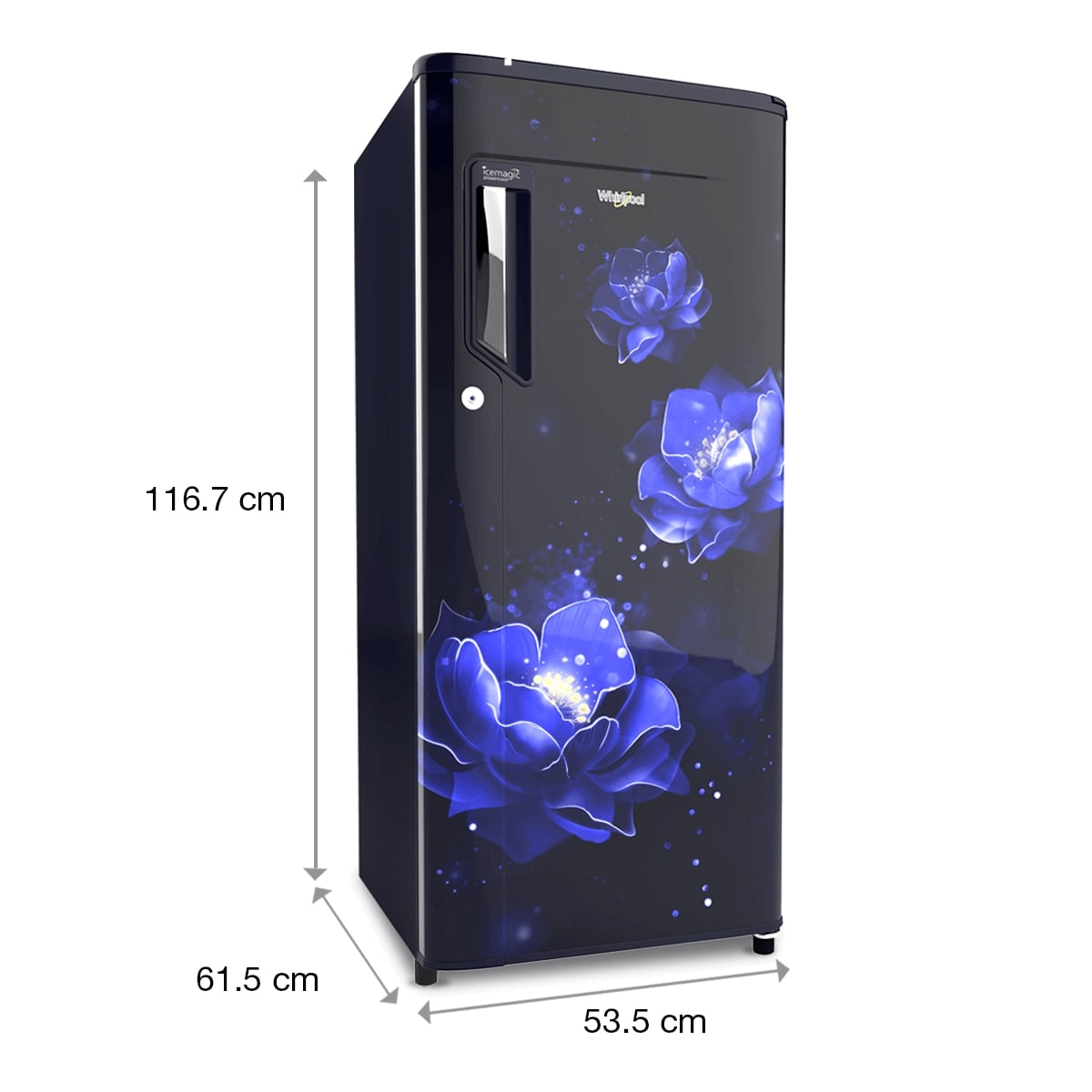 Whirlpool 185 Litres 2 Star Direct Cool Single Door Refrigerator (200 Icemagic Powercool PRM 2S, Sapphire ABYSS - 71609)