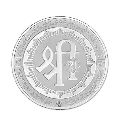Maa Silver 5gm Trimurti Silver Coin 999 Purity