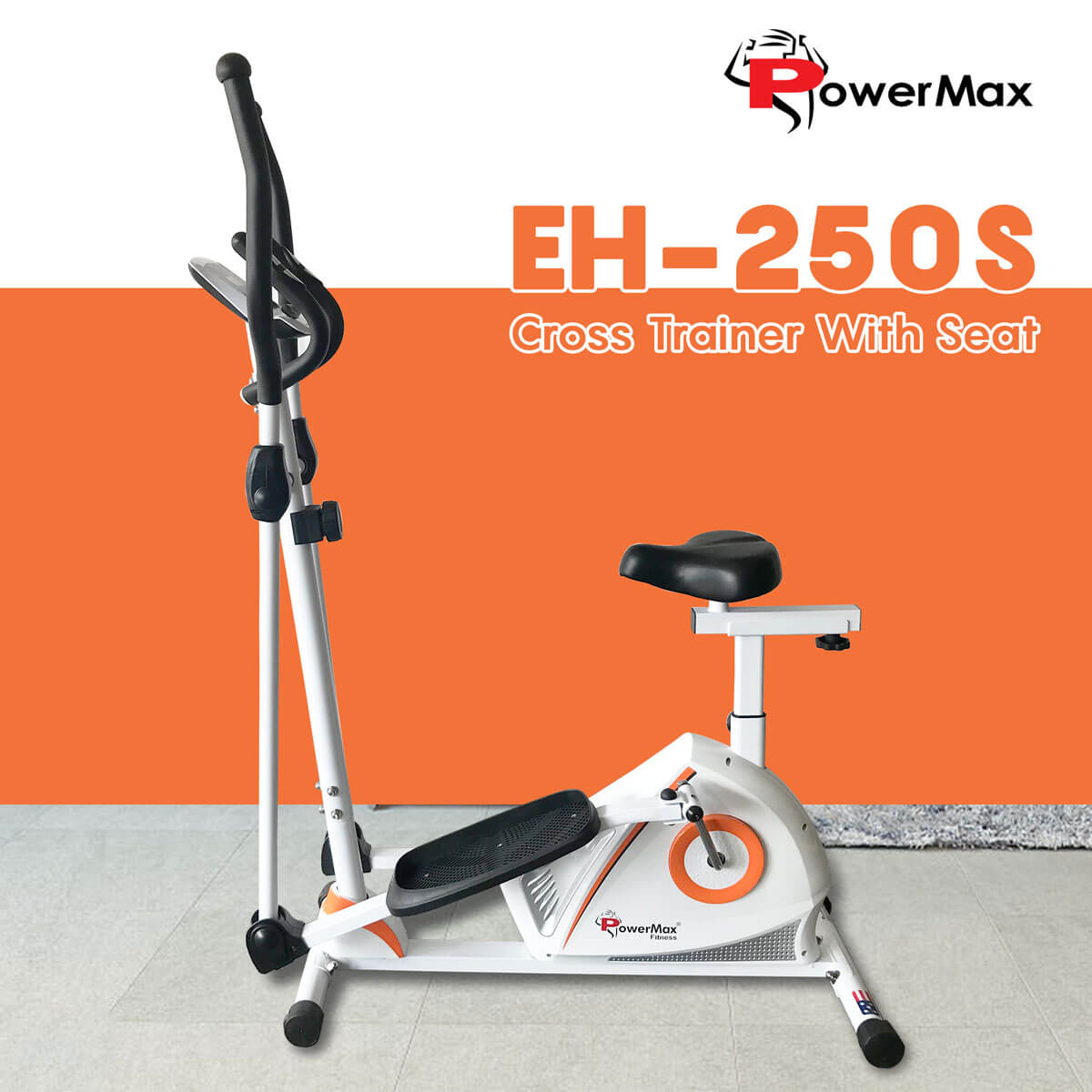 PowerMax EH-250S Cross Trainer With Seat