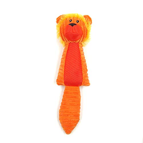 Pets Empire Cute Pet Dog Puppy Chew Toy Squeaker Squeaky Soft Plush Play Sound Teeth Toy (Orange) 1 Piece