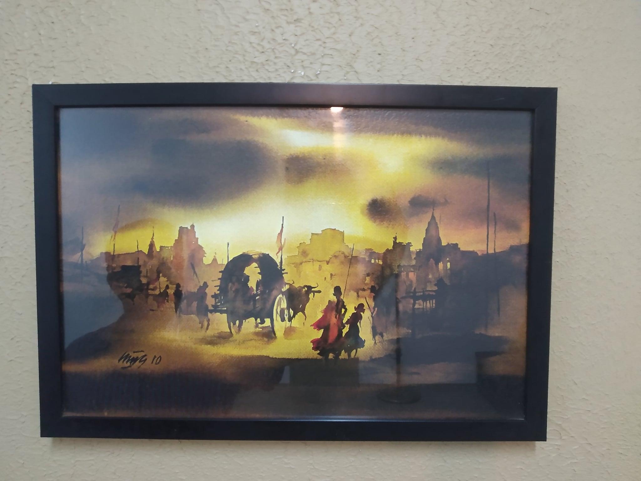 Village Sunset Painting