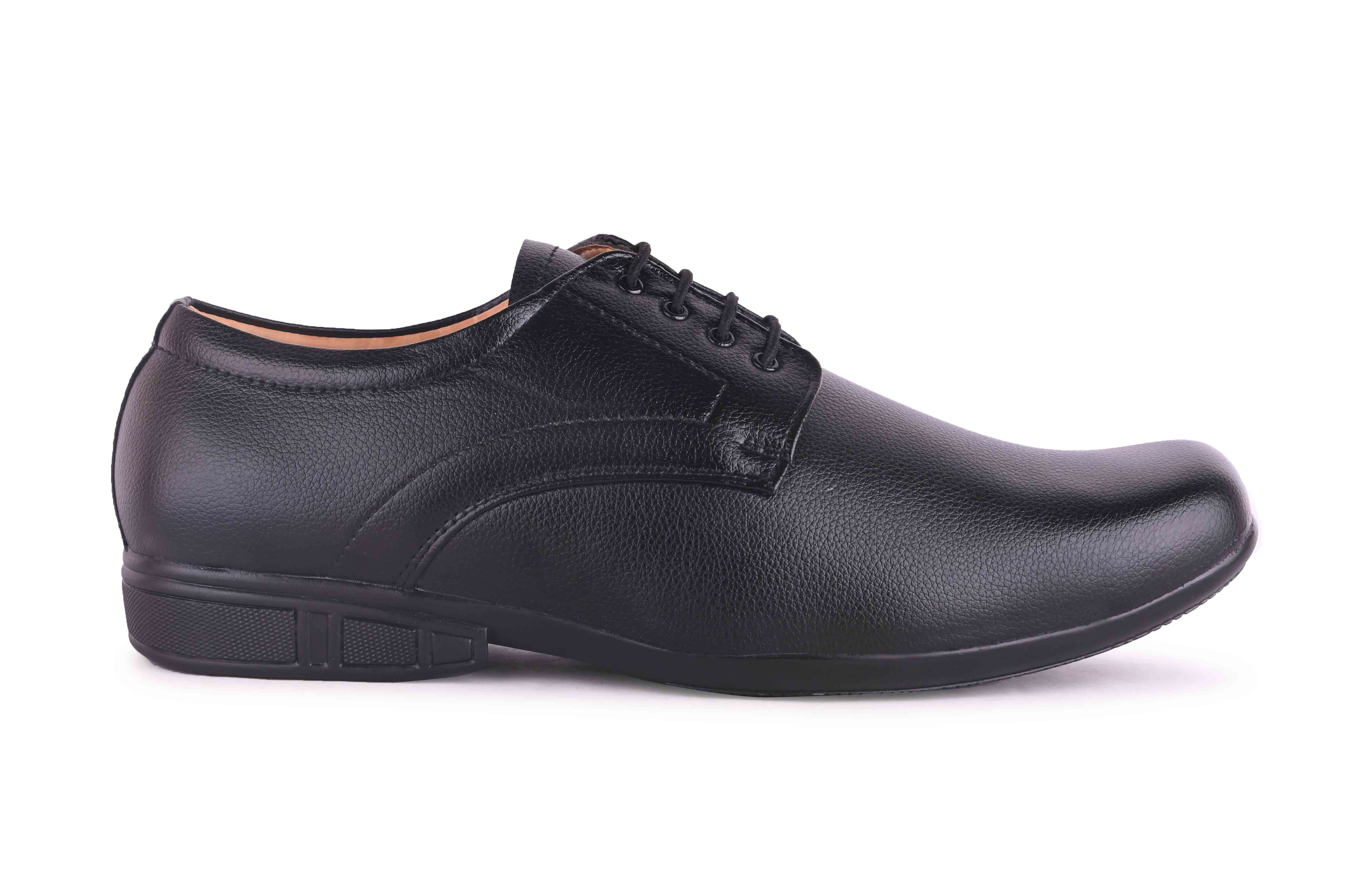 Almighty Black Men's Formal Shoes Derby For Men BBDBL0K (BLACK, 11-13, 8 PAIRS)