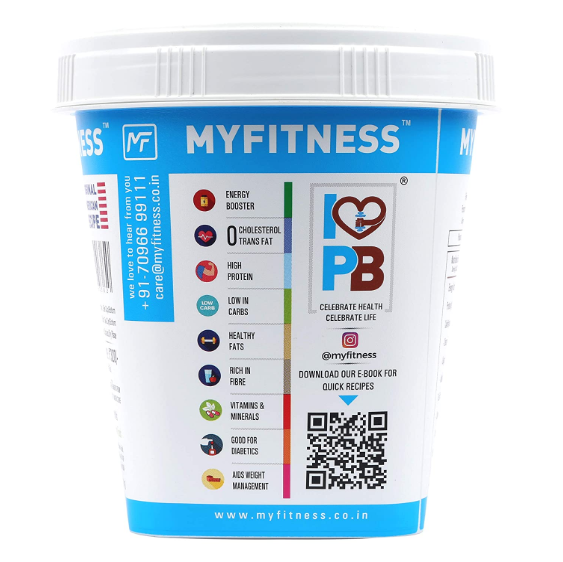 Myfitness Peanut Butter (Smooth, 510gms)